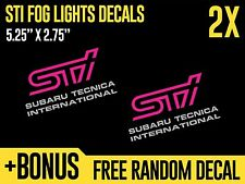(2X) Subaru Impreza STI Front Fog Lights Cover Vinyl Decals Stickers
