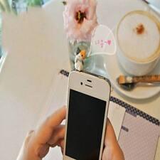 6Pcs Smartphone Cute Cheese Cat 3.5mm Anti Dust Earphone Jack Plug Stopper Cap