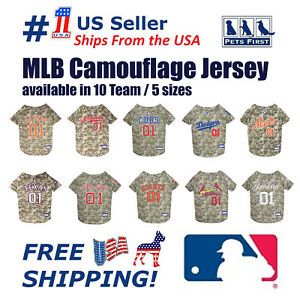 Pet-First-MLB-Camouflage-Dog-Jersey-Licensed-NEW-Available-10-Teams-amp-5-Sizes