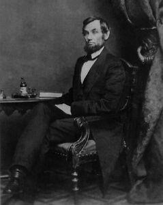 1865 Former US President ABRAHAM LINCOLN Glossy 8x10 Photo Historical Print