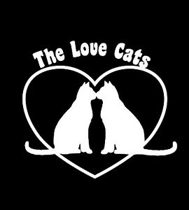 The-Cure-Inspired-T-Shirt-Valentine-039-s-Day-Love-Cats-Robert-Smith-Mens-amp-Ladies