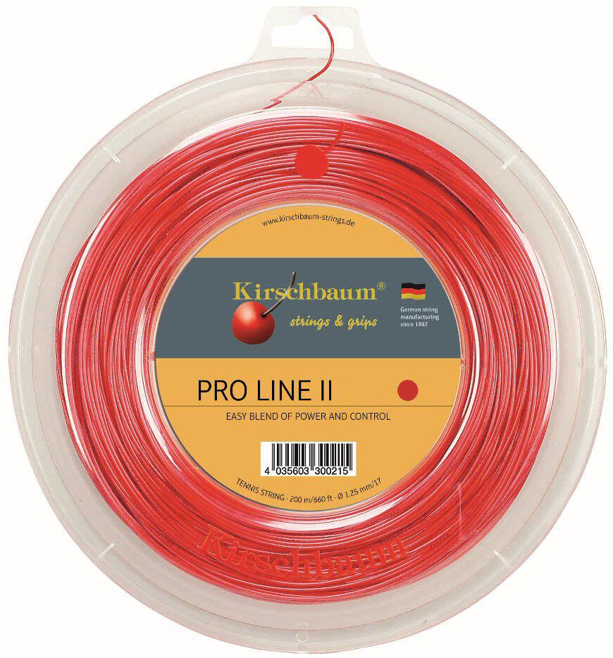 Kirschbaum PRO LINE II rosso rosso 200 M 1,25 mm mm mm TENNIS CORDE TENNIS STRINGS 0f5f06