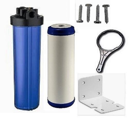 """Big Blue Water Filters Water Filter KDF85//GAC FILTER IRON//H SULFIDE 20/""""x4.5/"""""""