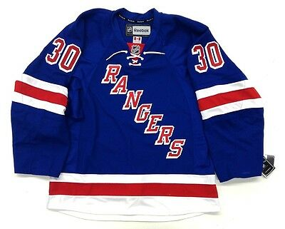 best sneakers 8d8ef 27629 HENRIK LUNDQVIST NEW YORK RANGERS REEBOK EDGE AUTHENTIC CANADIAN HOME  JERSEY | eBay
