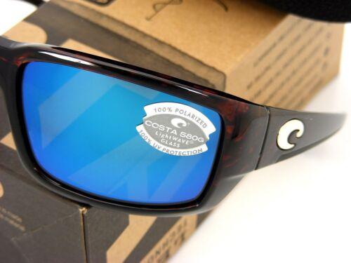 NEW Costa Del Mar FANTAIL Tortoise /& 580 Blue Mirror Glass 580G