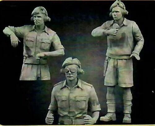1//35 Resin Figure Model Kit British Soldiers Tank Tankers WWII WW2 Unpainted