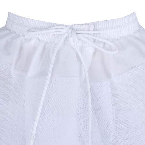 Child Girls 3 Layers Net Petticoat Underskirt Wedding Party Prom Crinoline Slip