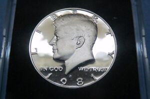 1981-S-U-S-KENNEDY-034-S-PROOF-034-HALF-DOLLAR-San-Francisco-Mint-in-Display-Case-3