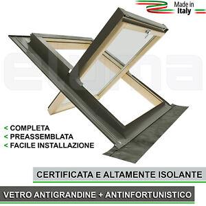 Finestra-per-tetti-COMFORT-BILICO-78x98-Apertura-Basculante-tipo-Velux
