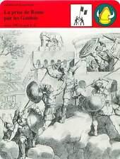 FICHE CARD la Prise de Rome par les Gaulois 390 av JC Récit de Tite-Live 90s