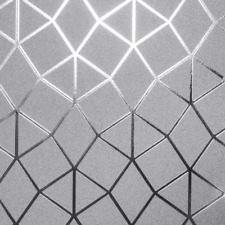 Fine Decor Platinum Geometric Luxury Metallic Triangular Wallpapers