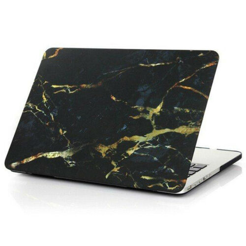 Black Marble Hard Case Cover Sleeve For Macbook Air Pro 11 12 13 15/'/' /& Retina