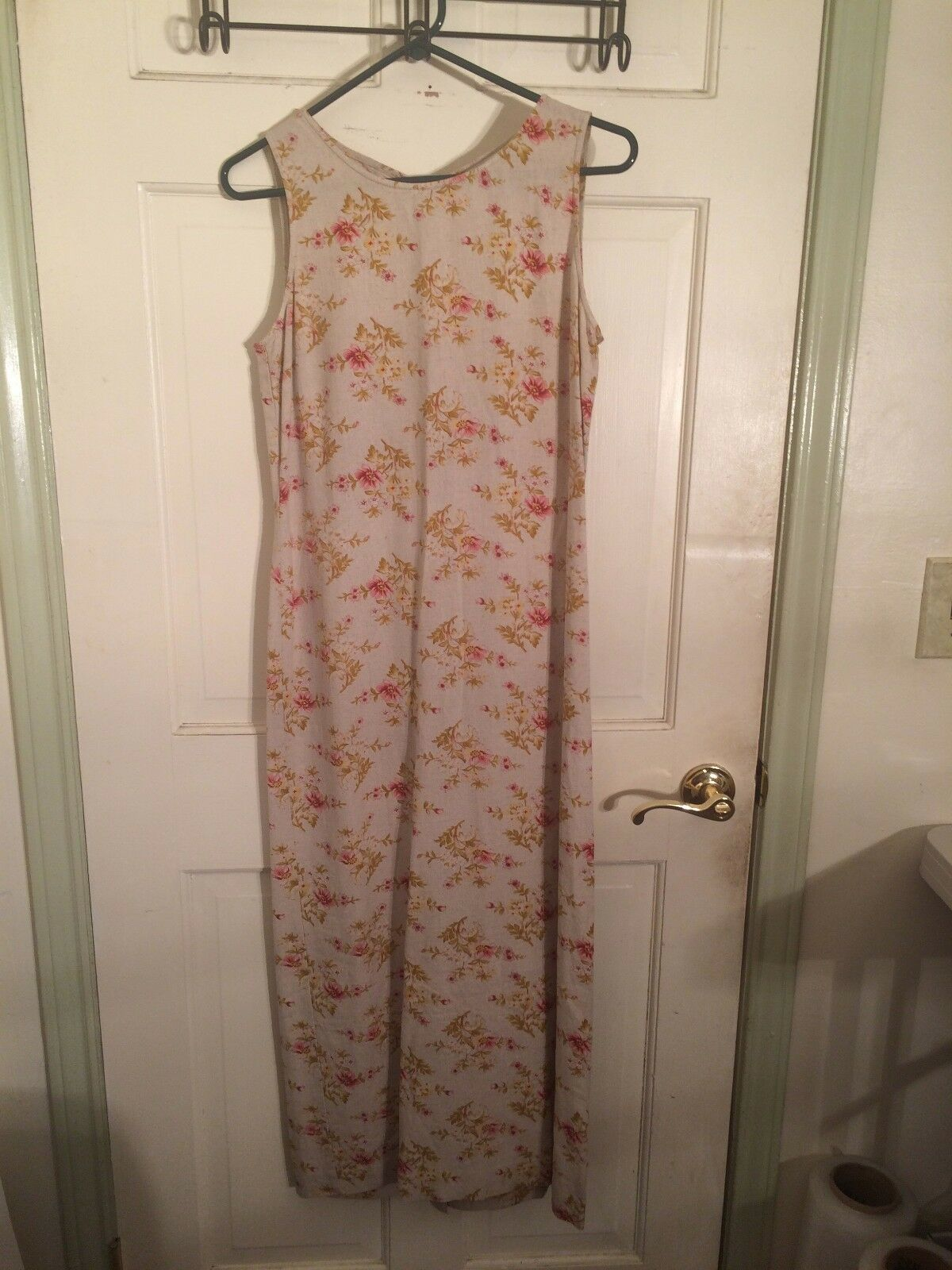 Women's Tan & Pink Floral Dress by Casual Corner Annex (01777)