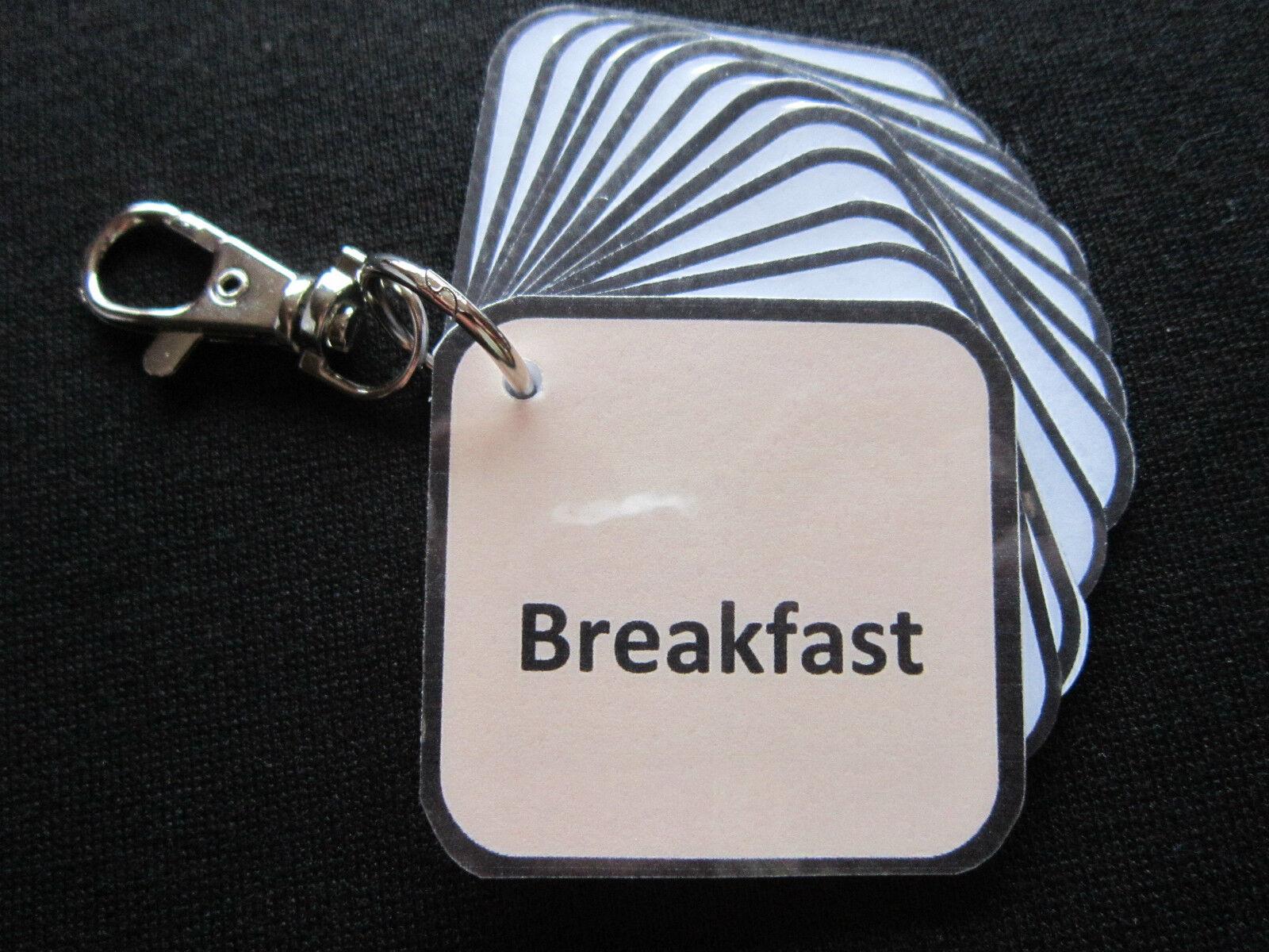 Tarjetas De Desayuno-Autismo Desayuno-Autismo Desayuno-Autismo ADHD pectorales no verbal principios años de ayuda visual demencia easl e487fc