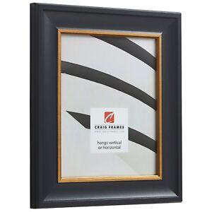 Craig-Frames-Martin-Black-Velvet-with-Gold-Picture-Frame-Poster-Frame