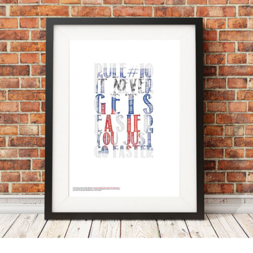 ❤ CYCLING ❤ Brooklyn typography poster art Limited Edition Print in 5 sizes #23