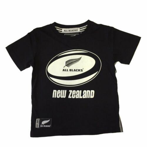 Black New New Zealand Rugby All Blacks Official Kids Boys Ball T-Shirt