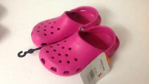K Uk 1 Pink Classic Size Fit Candy Kids Crocs Roomy Clogs qUpwtxa