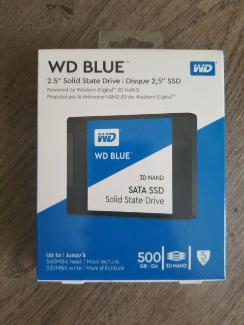 "WD - Blue 500GB Internal SATA 2.5"" Solid State Drive - New"