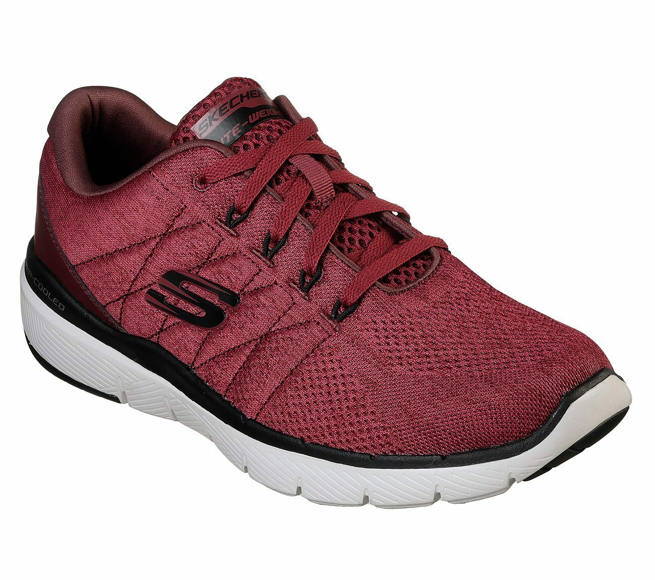 Skechers Burgundy shoes Men Memory Foam Mesh Sport Comfort Casual 52957
