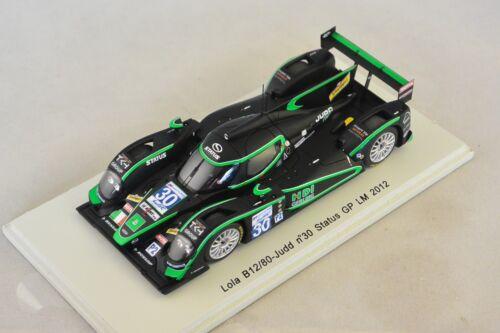 Buurman  1//43 LOLA B12//80 Judd Status GP n°30 Le Mans 2012 Y Spark S3715