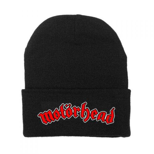 Motorhead Logo Beanie Fold Cuff Knit Hat Cap