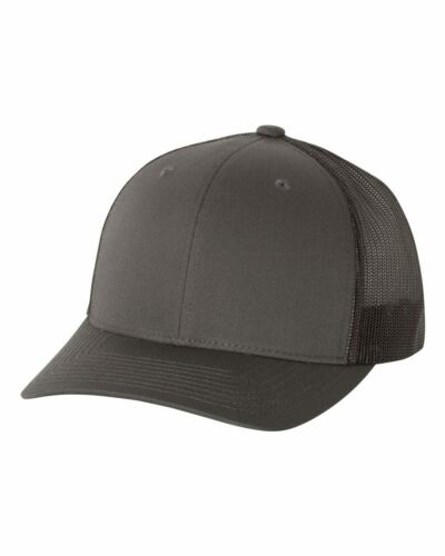 Yupoong Classic Blank Retro Cotton Trucker Mesh Cap Snapback Hat 6606