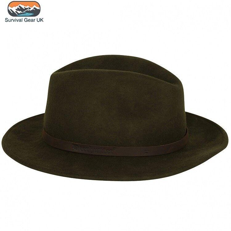 Deerhunter Adventurer pliable Feutre tir chapeau en 100% laine en DH vert