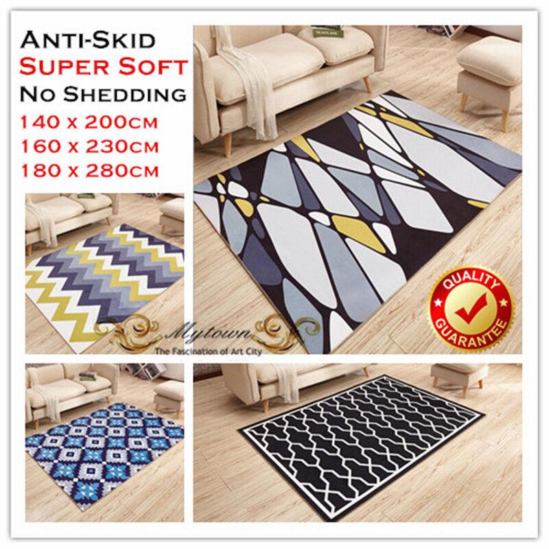 Large Home Living Bedroom Rectangle Floor Confetti Rug Carpet Mat Modern Design