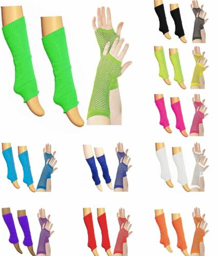 Kids Girls Plain LegWarmer /& Fishnet Gloves Dance Wear Legwarmers tutu Fancy