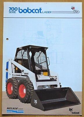 Aggressiv Kompaktlader Bobcat 741 U. 743, Original-prospekt Der Firma Melroe Europe, Lader