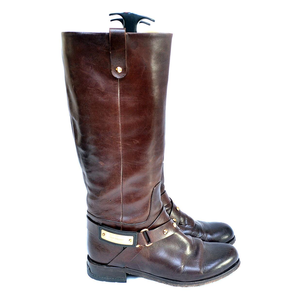 Luis afirma Onofre rodilla alta botas de cuero con tachuelas EU 36 US 6