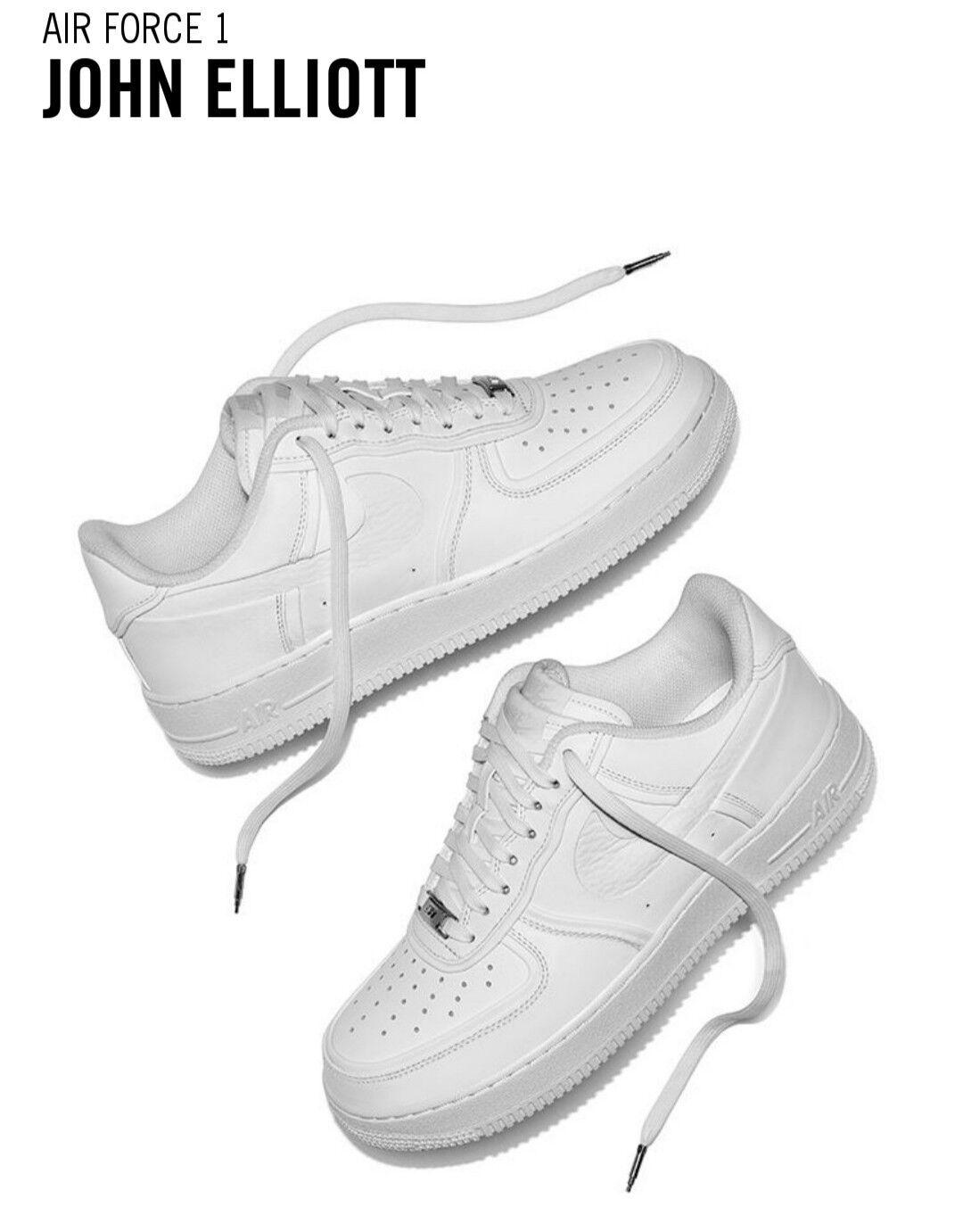 Nike x john elliott air force af1 1 niedrig af1 force triple weiße sz 6,5 mio / 8 wmns 956b70