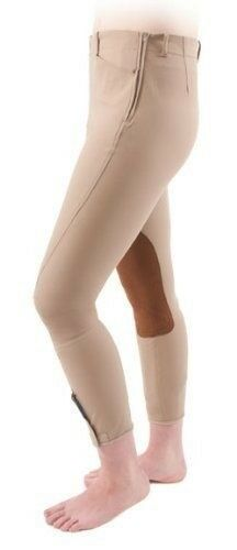 Shires Ladies Oakland Side Zip Knee Patch Riding Breeches Low-Rise Fit