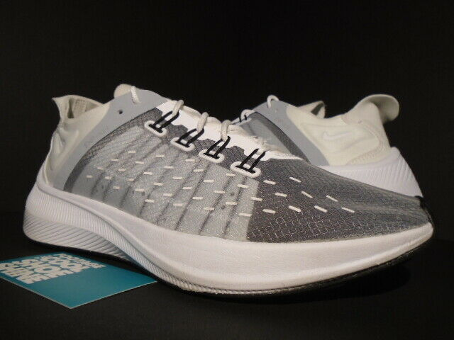 2018 NIKE EXP-X14 blanco WOLF gris negro FLYKNIT RACER TRAINER AO1554-100 8.5