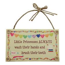 Little Princess Comical Bathroom Plaque – Girls – Funny – Wooden Sign