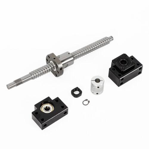SFU1605 250—750mm Kugelumlaufspindel+BF12//BK12 CNC Kugelgewindetrieb Ausdauer DE