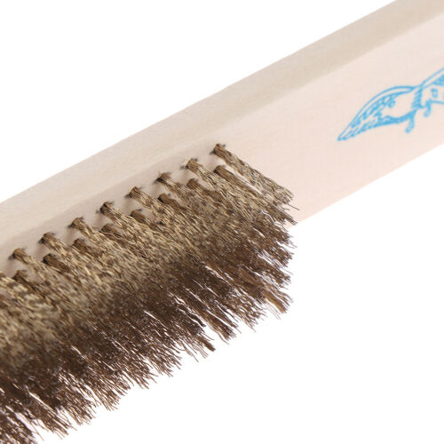 Stainless Steel Copper Wire Brass Briste Wood Handle Wire Brush Tn