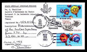 1983-LAUNCH-COLUMBIA-STS-9-MEASUREMENT-OF-SOLAR-SPECTRUM-SIGNED-ESP-2837