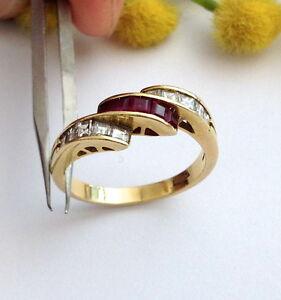 ANELLO-IN-ORO-18KT-CON-DIAMANTI-E-RUBINI-18KT-SOLID-GOLD-DIAMONDS-amp-RUBIES-RING