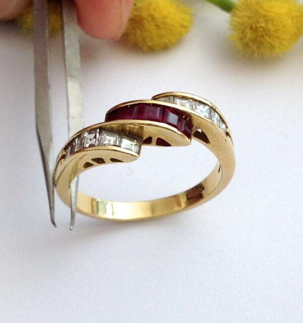 ANELLO IN ORO 18KT CON DIAMANTI E RUBINI -18KT SOLID GOLD DIAMONDS & RUBIES RING