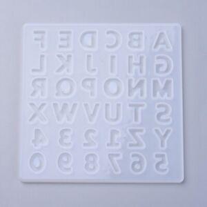 Silikonform Buchstaben Zahlen 135x135mm Mold Handwerk Resin  Abformen Gießen