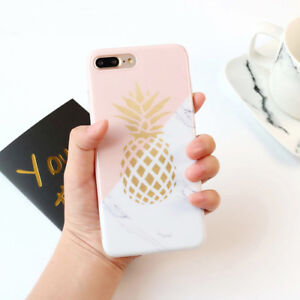 new style 5be6a 486a9 Details about Marble Pineapple Fruit Pattern Soft Phone Case Cover For  iPhone 6 6s 7 8 Plus X