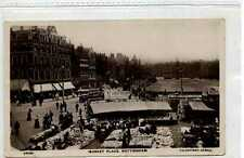 (Go448-183) Real Photo of Market Place, NOTTINGHAM 1909 Used G-VG