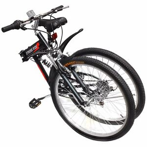 26-034-Folding-Mountain-Bicycle-7-Speed-Shimano-FOLDABLE-Bike-Black-MTB-Sport-Fold