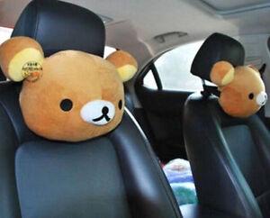 FD4395-San-X-Rilakkuma-Relax-Bear-Car-Seat-Head-Rest-Cushion-Neck-Pillow-1PC