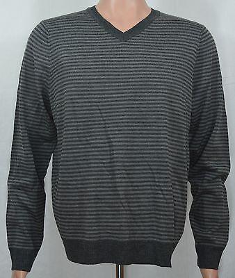 New Apt 9 Men/'s Merino Wool V-Neck Sweater Burgundy Argyle Pattern MSRP $60