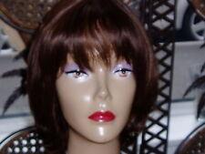 Real Ladys 100% Human Hair Wigs Ladies Wig Medium Brown Colour 4 Auburn 30