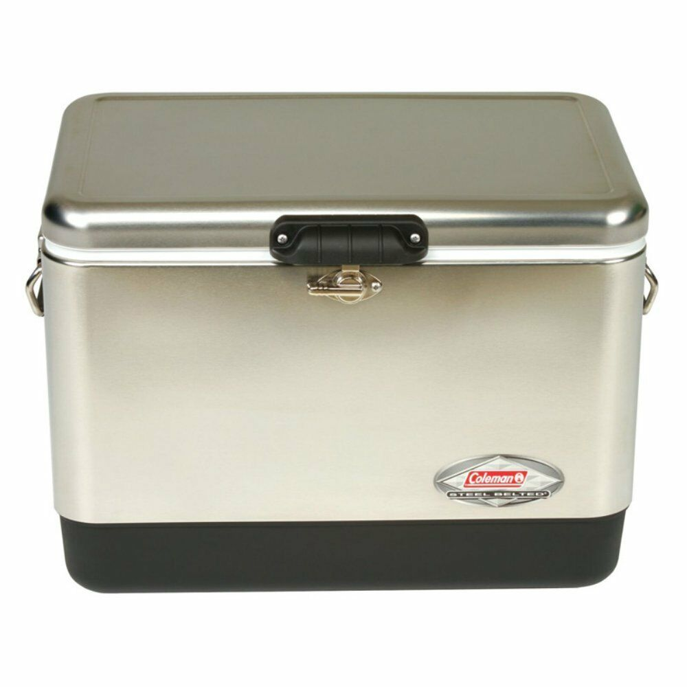 Coleman 54 qt. Belted  Cooler, Stainless Steel  timeless classic
