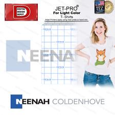 Heat Transfer Paper For T Shirts Inkjet Jetpro Ss 25 Sheets Iron On 85x11 1